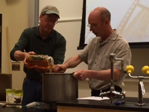 Joe and Peter making mead